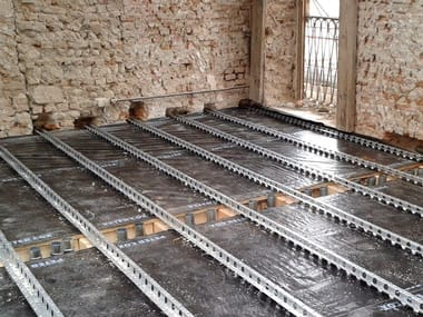 Consolidation of floor slab and timber structure LPR® AND FLAP SYSTEM