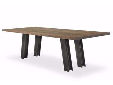 Rectangular solid wood table LUCA
