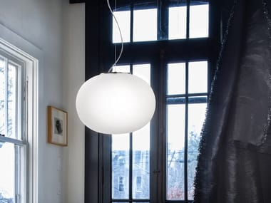 Blown glass pendant lamp LUCCIOLA SP
