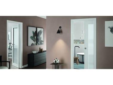 Porta battente reversibile con vetro LUCE | Porta battente reversibile