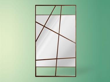 Countertop rectangular framed mirror LUCIAN