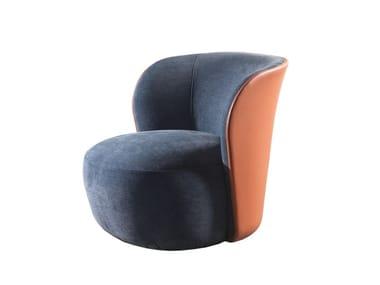 Fabric armchair with armrests LUCREZIA | Armchair