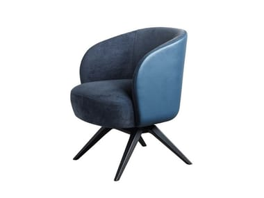Fabric easy chair with armrests LUCREZIA | Easy chair