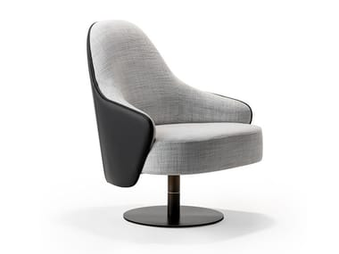 Swivel armchair with armrests LUDWIG | Armchair