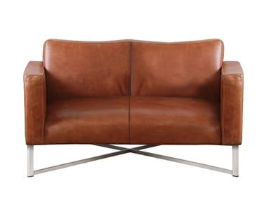 2 seater leather sofa LUIS | Sofa