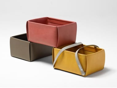 Leather storage box / bag LULLABAO