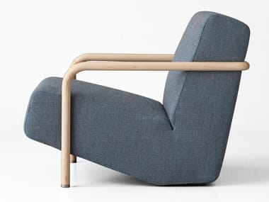 Wool easy chair with armrests LULLABY