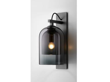 Lampada da parete in acciaio e vetro LUMI | Applique