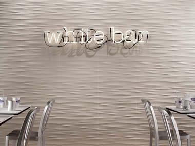 Revêtement mural 3D en céramique pâte blanche pour intérieur LUMINA 30,5 x 56