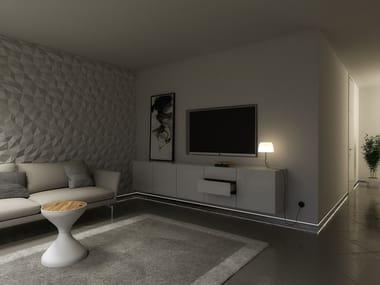 LED Skirting board LUMINES FLARO | Indoor skirting lighting