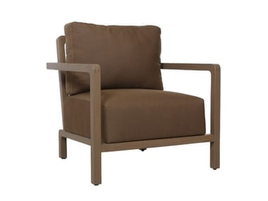 Upholstered armchair with armrests LUN - KOON | Armchair