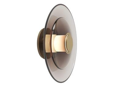 LED blown glass wall light LUNA A DISC