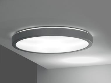 Lampada a soffitto in alluminio e metacrilato LUNA | Lampada da soffitto