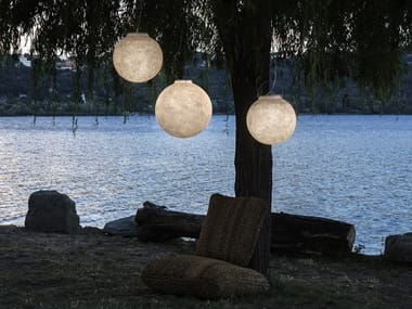 LED Nebulite® outdoor pendant lamp LUNA OUT