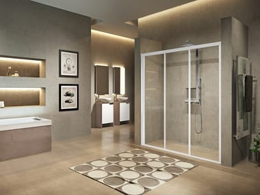 Niche shower cabin with sliding door LUNES 2.0 3P