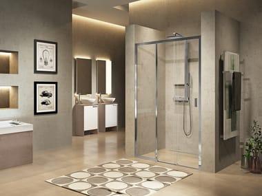 Box doccia a nicchia con porta scorrevole LUNES 2.0 3PH