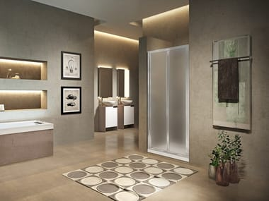 Niche shower cabin with folding door LUNES 2.0 S