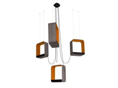Lampada a sospensione a LED regolabile LUSTRE 4 GRAND CARRÉ