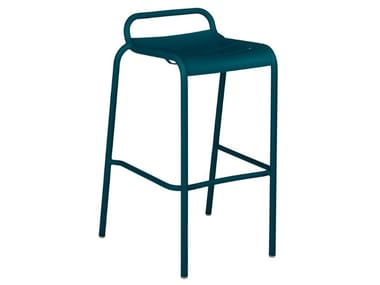 High stackable aluminium stool LUXEMBOURG | High stool