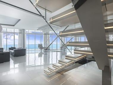 Kragarmtreppe aus Corian® LUXO SURFACES
