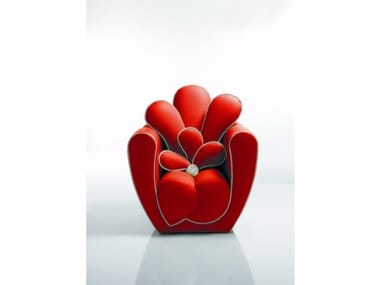 Upholstered armchair with armrests LUXUS
