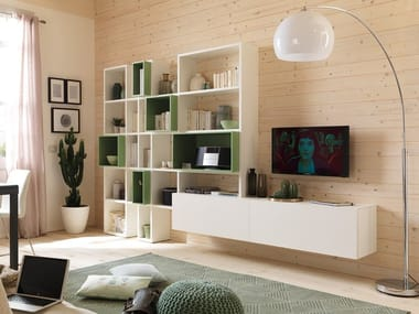 Wooden bookcase / storage wall LV102 | Storage wall