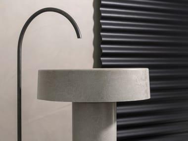 Freestanding fiberglass washbasin LVR