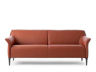 2 seater leather sofa LX368 | Sofa