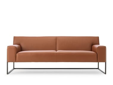 Sled base leather sofa LX382 | Sofa