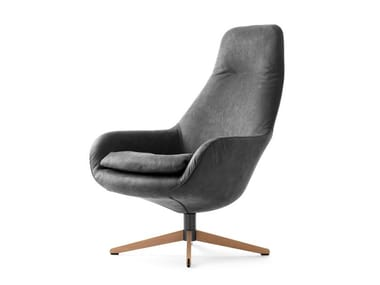 Swivel leather armchair LX389 | Leather armchair