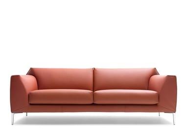 2 seater leather sofa LX675 | Leather sofa