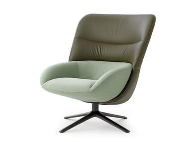 Swivel armchair with 4-spoke base LX697 | Armchair with 4-spoke base