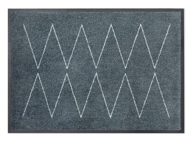 Rectangular recycled material rug LYN GREY