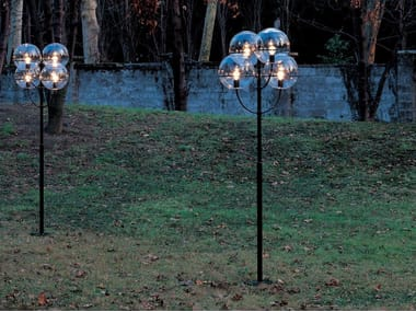 Polycarbonate garden floor lamp LYNDON 350