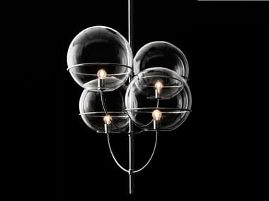 Glass pendant lamp LYNDON - 450