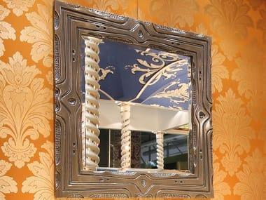 Framed wall-mounted wooden mirror LYRA | Mirror