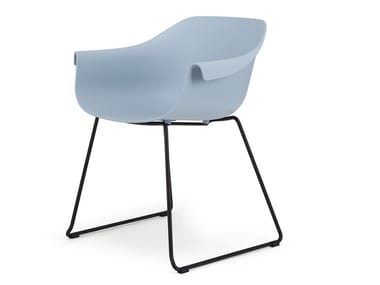 Sled base plastic chair LZ | Sled base chair
