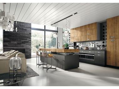 Cucina componibile in stile moderno con isola con maniglie Lab 40 - Composizione 3