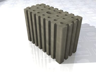 Hollow-core clay slab for facade LaterActive