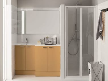 image related Laundry room cabinet with hinged doors