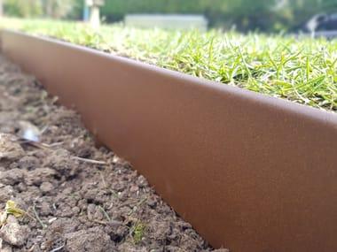 Rasenkante aus Stahl Rasenkante