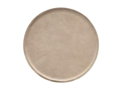Round leather cushion Leather cushion