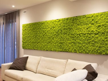 Indoor vertical garden Artificial lichen