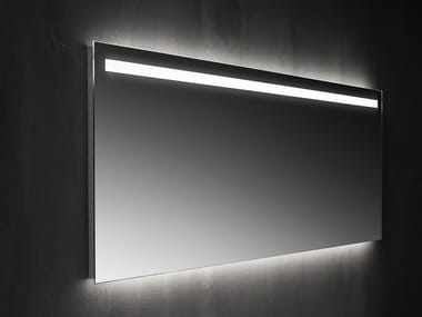 Mirrors with straight edges with frontal LED lighting Mirror