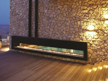 Gas closed outdoor fireplace Linea 400