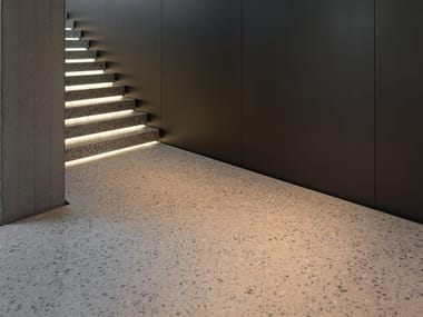 Indoor/outdoor Concrete and cement-Based materials flooring terrazzo effect LIXIO®+