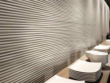 Revêtement mural 3D en céramique pâte blanche LUMINA 50 x 110