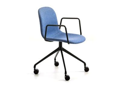 Chaise de bureau en tissu à roulettes MÁNI FABRIC AR-HO-4