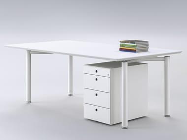 Lacquered workstation desk MÈTA | Lacquered office desk