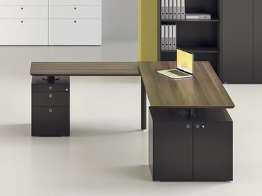 Workstation desk with shelves MÈTA | Office desk with shelves